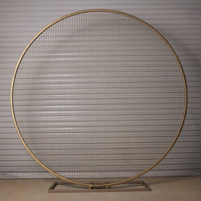 Arbour Round Hoop Meshed Gold