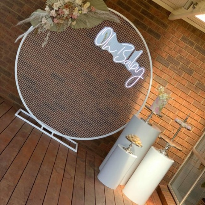 Arbour Round Mesh Screen White