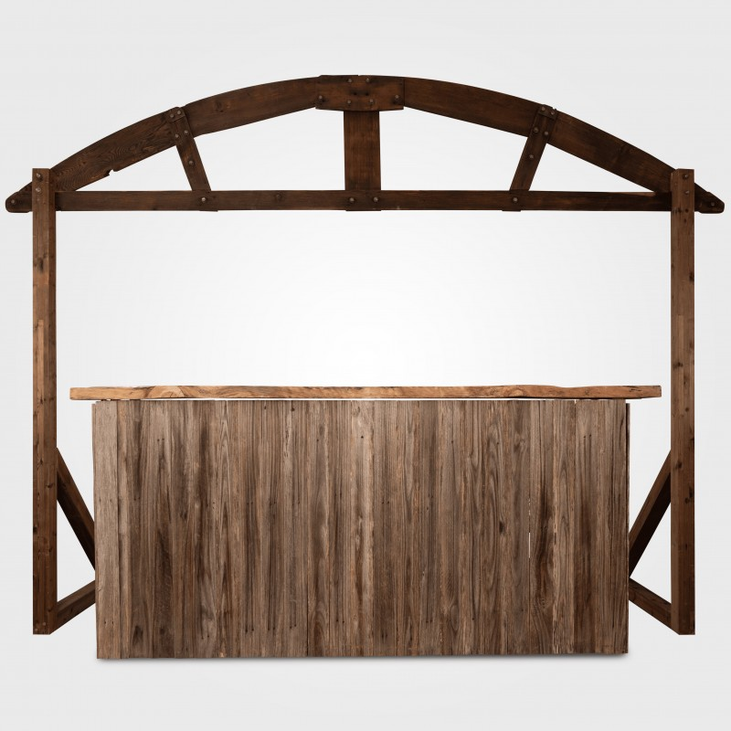 Bar - Rustic bar with timber top and arch