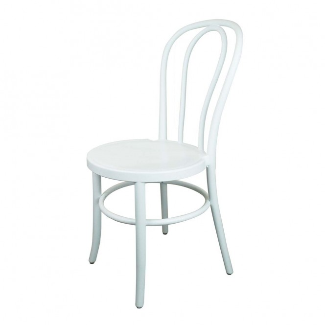 Bentwood Chair White Resin