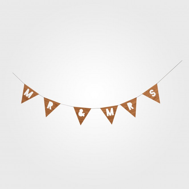Bunting -  Mr & Mrs Bunting (Bamboo)