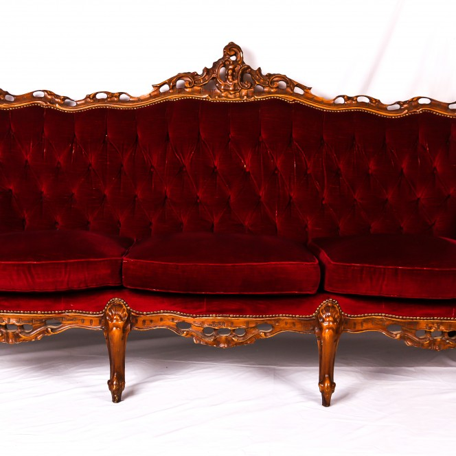 Chaise Lounge - Red
