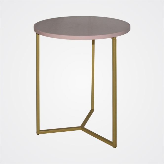 Coffee Table Gold/Pink