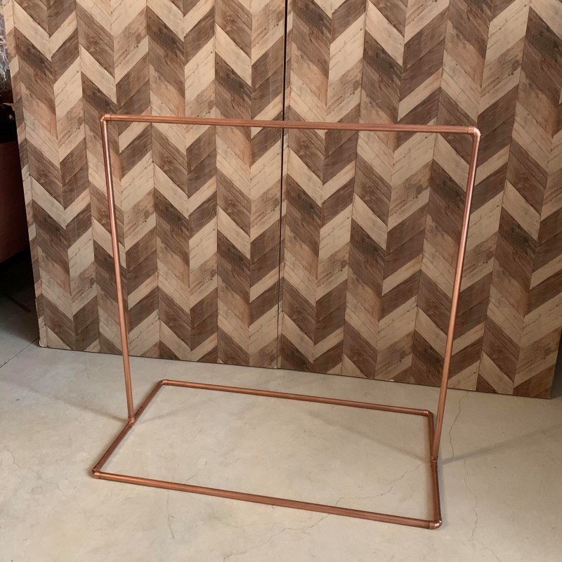 Copper signage stand
