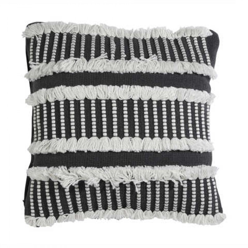 Cushion (Black/White Boho)