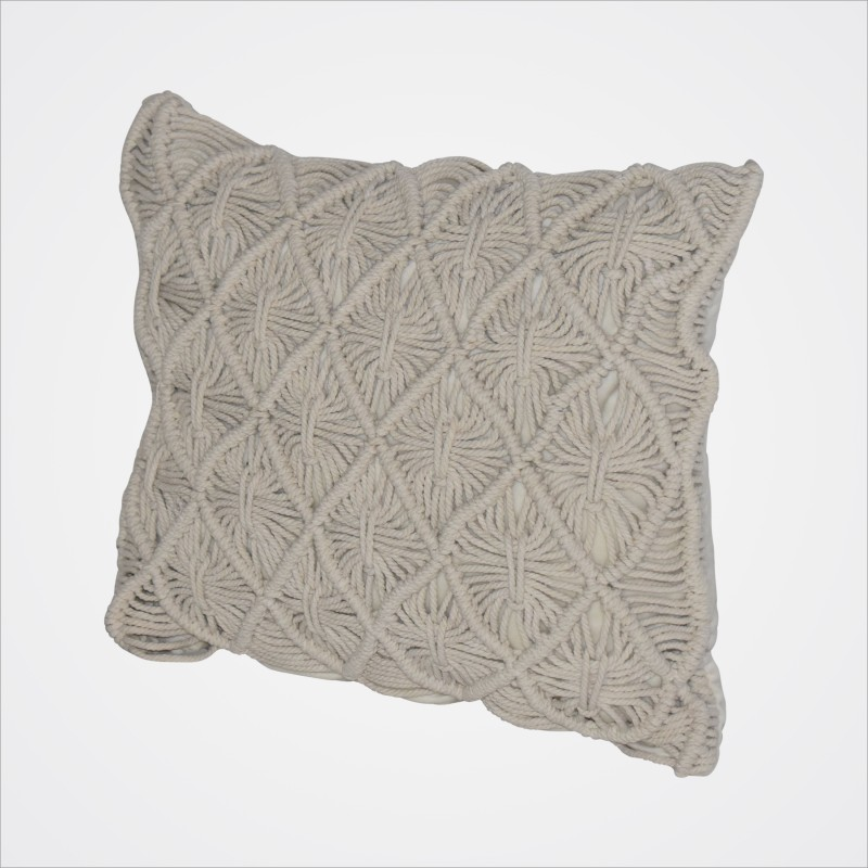 Cushion Cream Macrame (square) - Image #2
