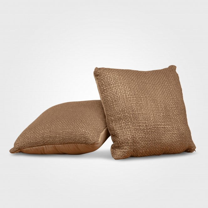 Cushion Gold Hessian