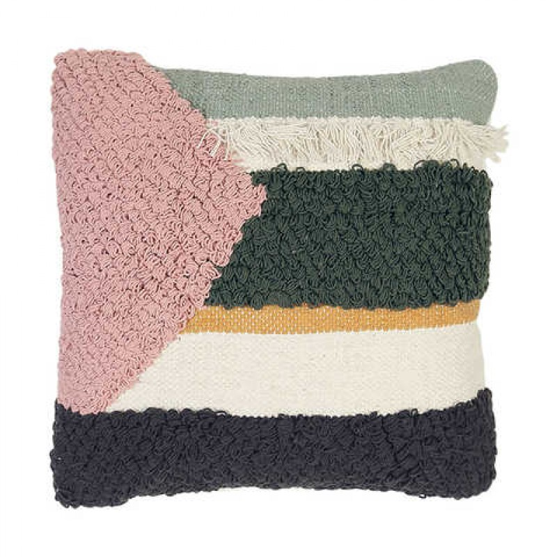 Cushion (Green, Pink, Tassled)
