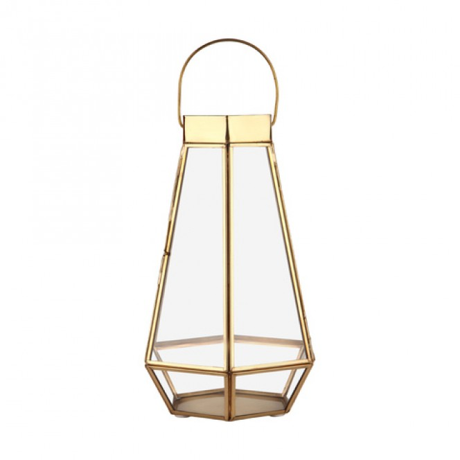 Gold Faceted Lantern