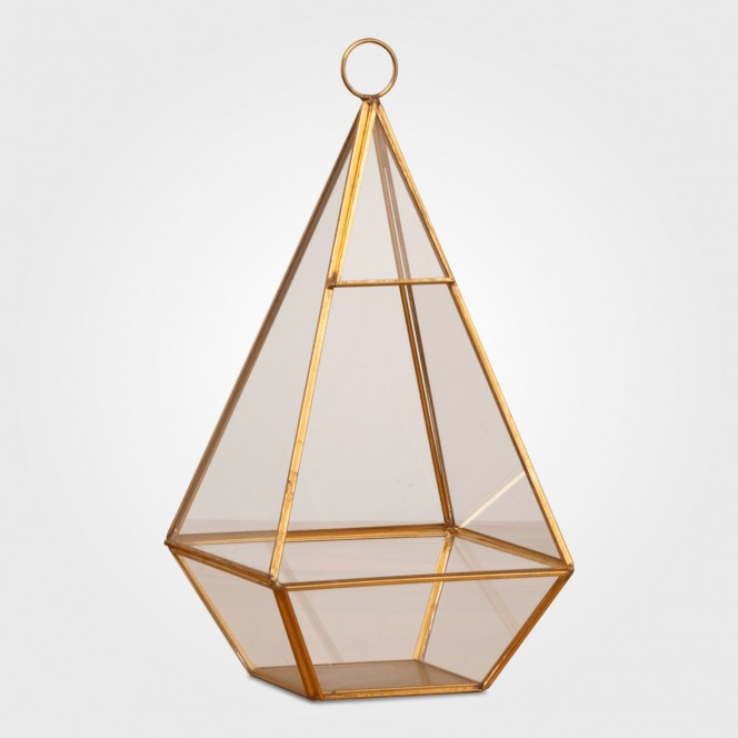 Gold Pyramid Candle Holders