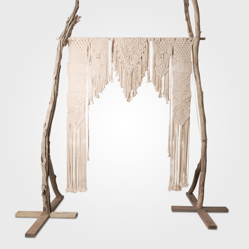 Macrame Wall Hanging with tree arch legs