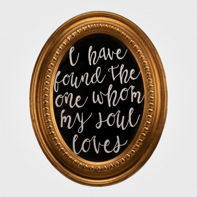 "Mirror (Gold) ""I have found the one"""
