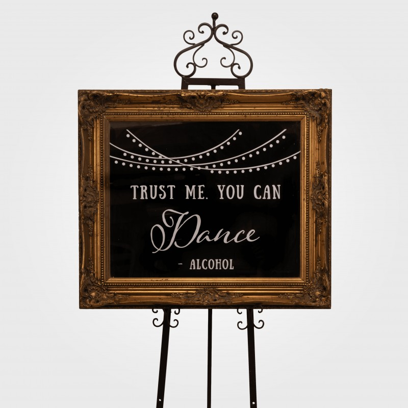 "Mirror (Gold) ""Trust me you can dance"""