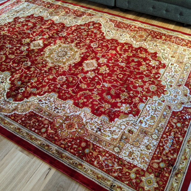 Rug Red Brown patterned