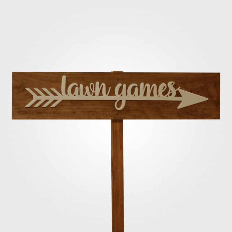 Sign - Lawn Games