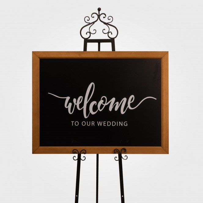 Sign - Welcome to our wedding in picture frame