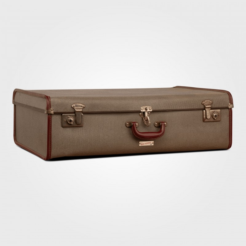 Suitcase Grey with red trim