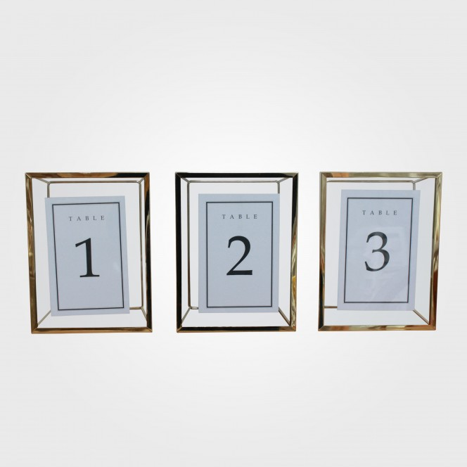 Table Numbers - Gold Picture Frame