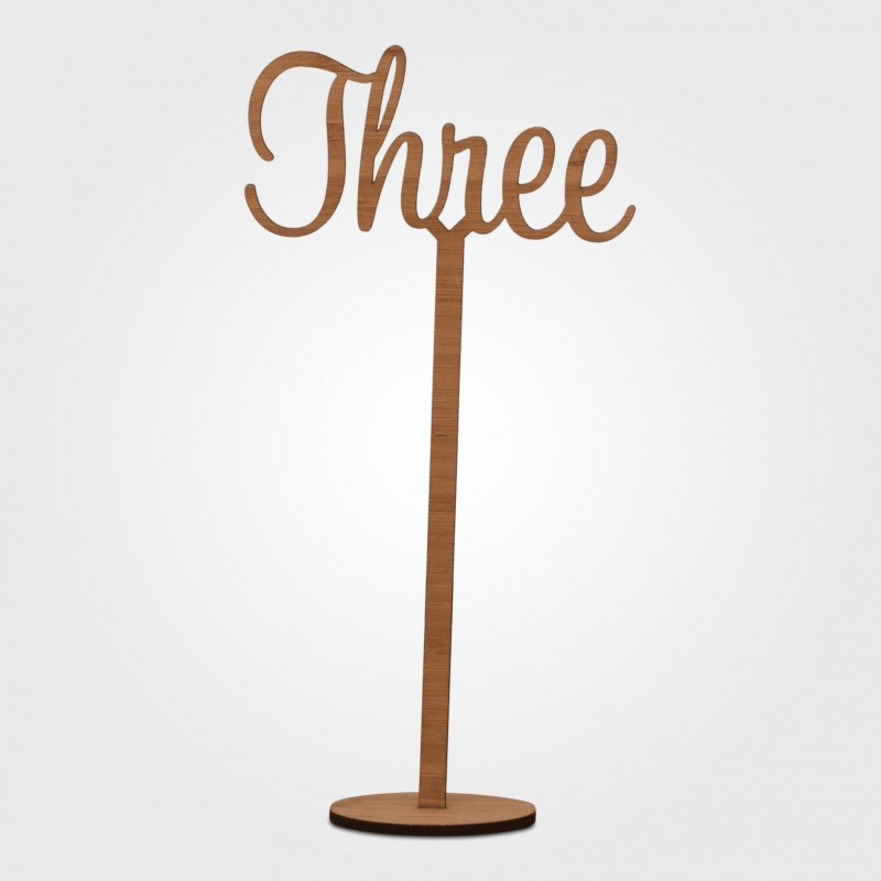 Table Numbers - Laser Cut on stand - Image #3
