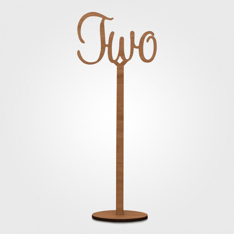 Table Numbers - Laser Cut on stand - Image #2