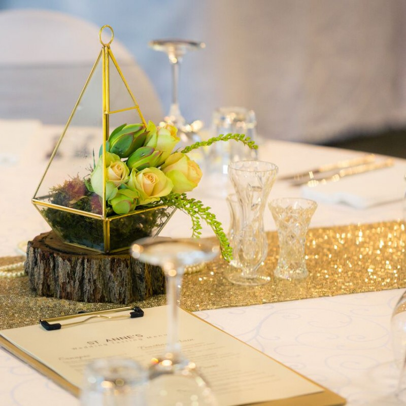 Table Runner - Gold Sequins - Image #2