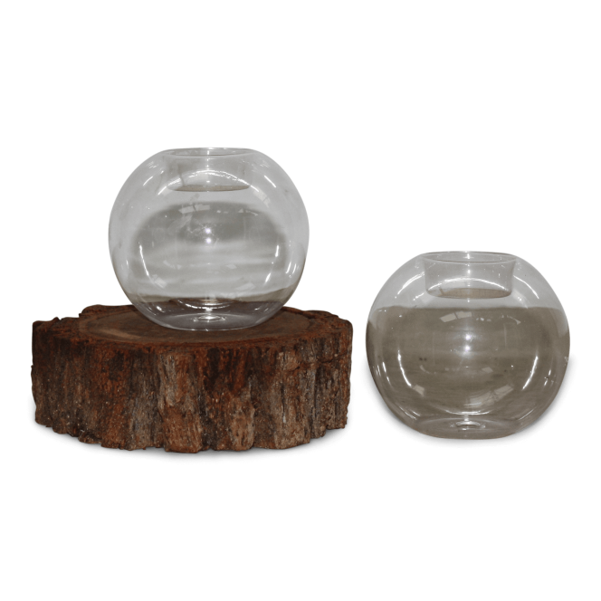 Tealight Candle Holders - Glass Bulbs (w candle)