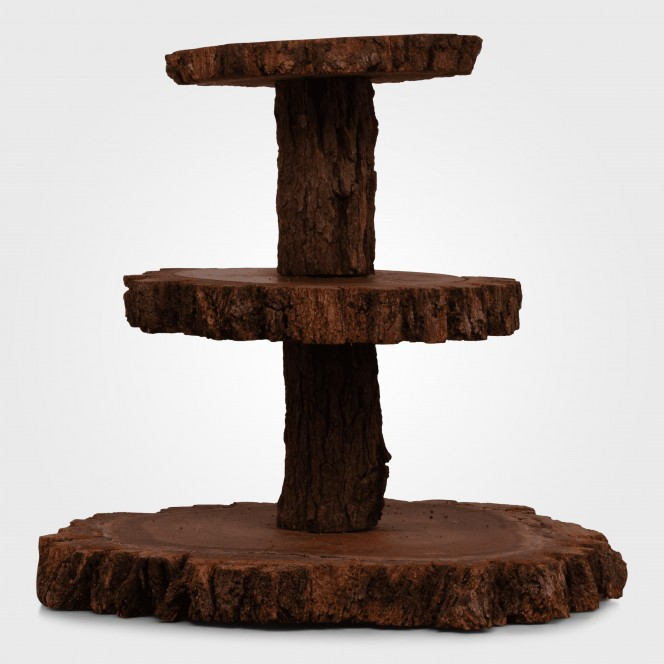 Three Tier Wooden Cake Stand