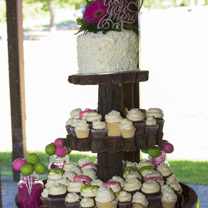 Three Tier Wooden Cake Stand - Image #2