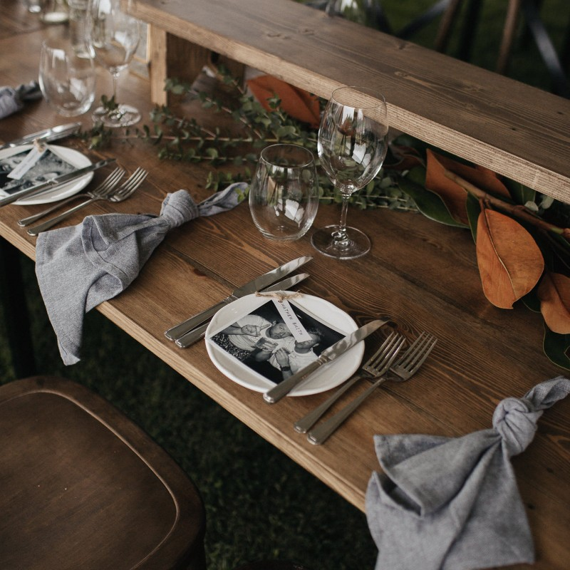 Trestle Table - Rustic Wooden Trestle - Image #2