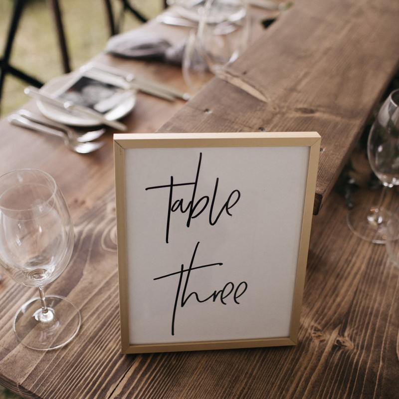 Trestle Table - Rustic Wooden Trestle - Image #3