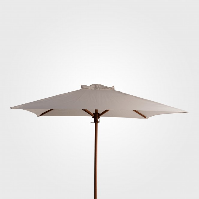 White Market Timber Umbrella