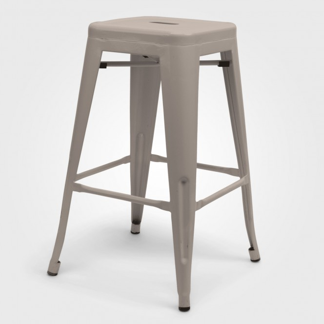 White Metal Tolix Stool