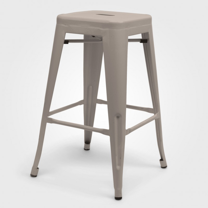White Metal Tolix Stool - Hero Image